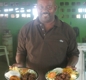 Maiky himself from with his famous goat stew cabrito kabritu stoba