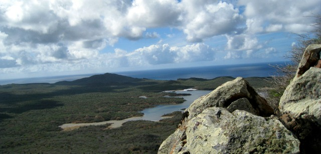view at the top of hike subi Brandaris Bonaire
